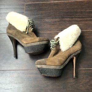 🔥L.A.M.B🔥 | Leather and fur ankle boots/booties
